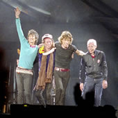 Ronnie Wood, Keith Richards, Mick Jagger and Charlie Watts. 27 August 2006, Don Valley Stadium, Sheffield, England. Photo courtesy of Graham Wiltshire, FRPS